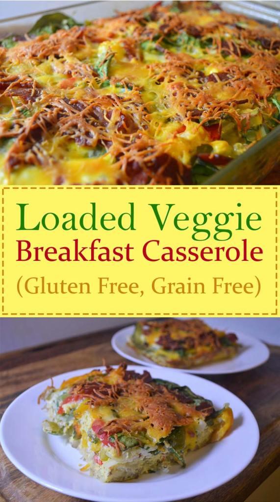 jam packed breakfast casserole hash browns eggs vegetables veggies turkey bacon