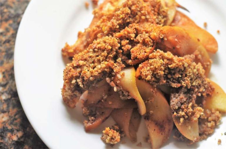 This healthy baked apple crisp will rock your world! Gluten-free, grain-free, vegan