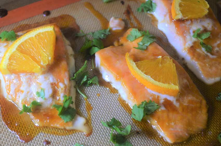 orange ginger honey salmon