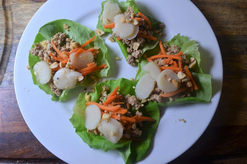 peanut chicken lettuce wraps asian gluten free grain free low carb