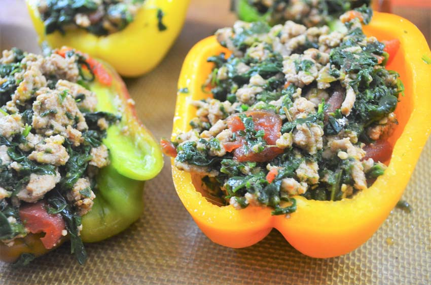 italian stuffed peppers homemade gluten free grain free low carb ground turkey