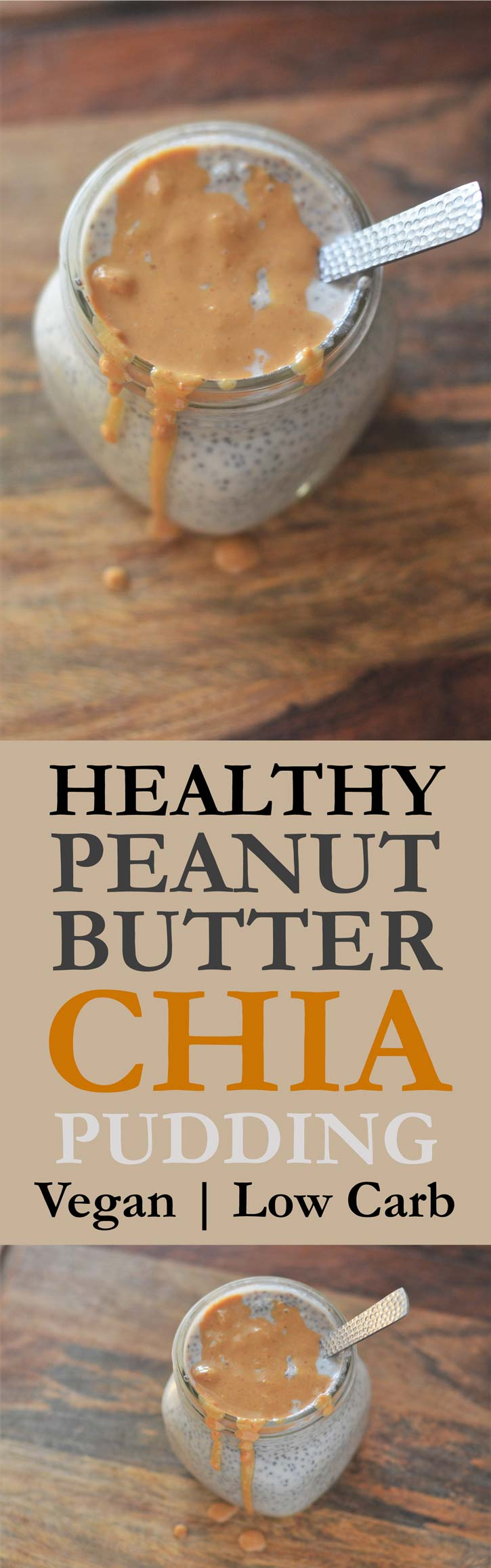 peanut butter chia pudding gluten free low carb vegan