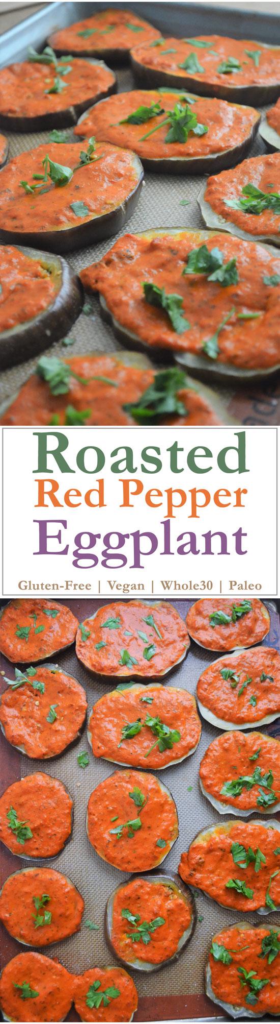 mediterranean eggplant red pepper sauce gluten free grain free vegan dairy free whole30 paleo