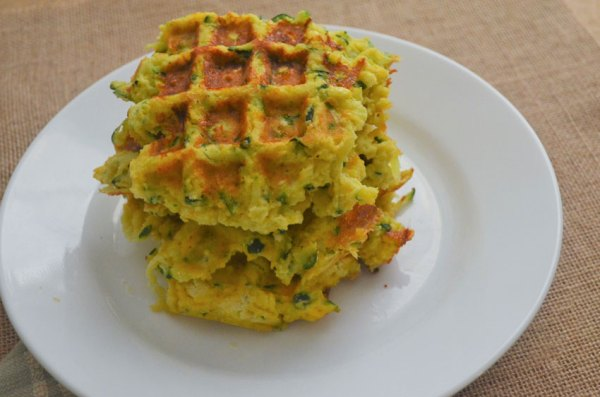 A savory cheddar zucchini waffle made using cheddar cheese, shredded zucchini and coconut flour. Super simple and delicious. Gluten-free, grain-free, low-carb, ketogenic.
