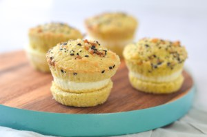 These breakfast egg muffins are so easy and quick to make! They're made using my coconut flour muffin recipe, eggs and everything but the bagel seasoning! Gluten-free, grain-free, Paleo, low-carb, ketogenic.