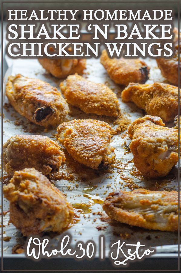 A gluten-free shake 'n bake chicken recipe, made with almond flour and a homemade spice mix. Tastes just like the original, but much healthier! Grain-free, Paleo, low-carb, ketogenic, dairy-free!