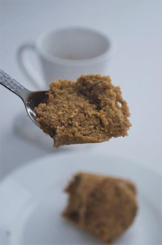 grain-free low-carb keto mug cake cinnamon breakfast