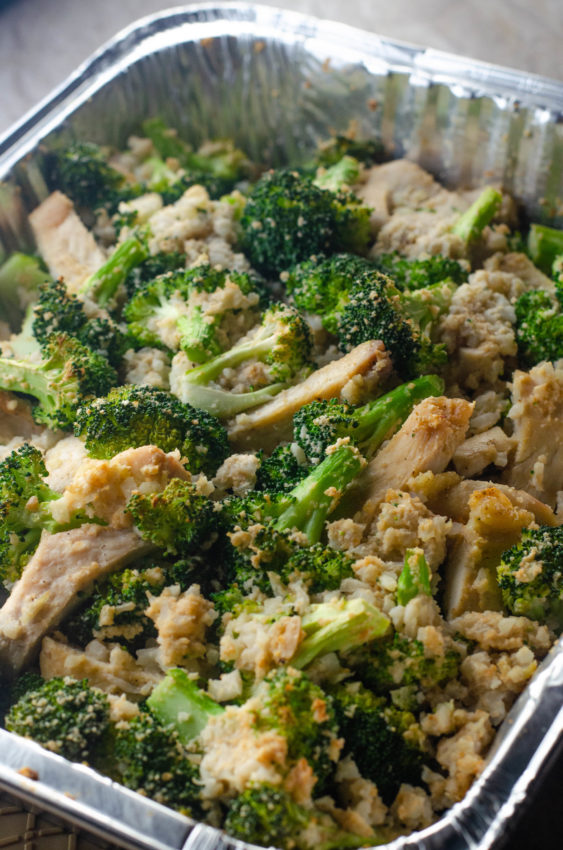 Creamy chicken and broccoli casserole made with a cashew cream or macadamia nut cream sauce. Low-carb, ketogenic, whole30 compliant, Paleo, dairy-free, gluten-free, grain-free.