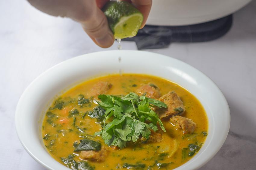 Whole30 pumpkin curry soup gluten free grain free dairy free
