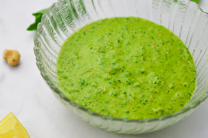This incredibly tasty vegan cashew pesto is dairy-free, gluten-free and super tasty!