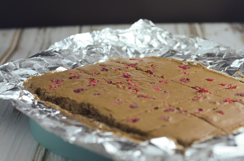A super tasty low-carb, ketogenic raspberry chocolate fudge recipe! Dairy-free, paleo and vegan!