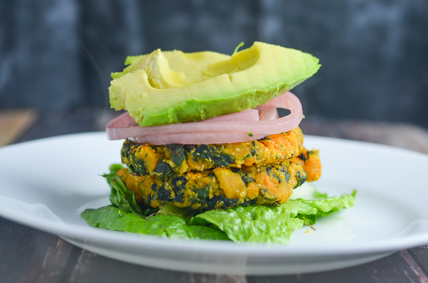 These three-ingredient sweet potato and spinach veggies burgers could not be easier to make, or tastier to consume! Gluten-free, grain-free, dairy-free, Paleo, Whole30 compliant.