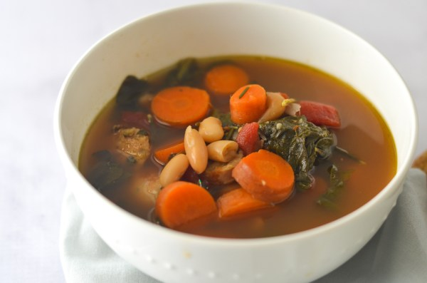 This toss in your leftovers soup that will turn all of your leftover ingredients into a delectable hearty meal. Simply throw in your leftovers and let the crockpot do it's magic! Gluten-free, grain-free, Paleo, low-carb, ketogenic.