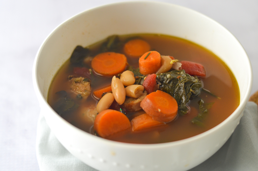 This toss in your leftovers soup will turn all of your leftover ingredients into a delectable hearty meal. Simply throw in your leftovers and let the crockpot do it's magic! Gluten-free, grain-free, Paleo, low-carb, ketogenic.
