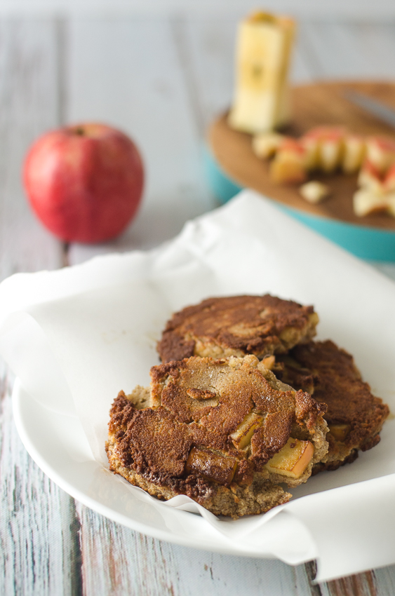 These gluten-free apple fritters are a delicious way to treat yourself to some dessert! They are made with coconut flour, eggs, almond milk, cinnamon, sweetener and of course, apple chunks. Gluten-free, grain-free, low-carb, Paleo and dairy-free.