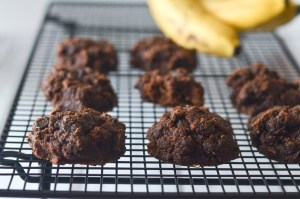 A double chocolate chip banana cookie that is super-soft and moist for a delicious treat. Sweetened with bananas and a little additional sweetener, if you desire. Paleo, gluten-free, grain-free and dairy-free.