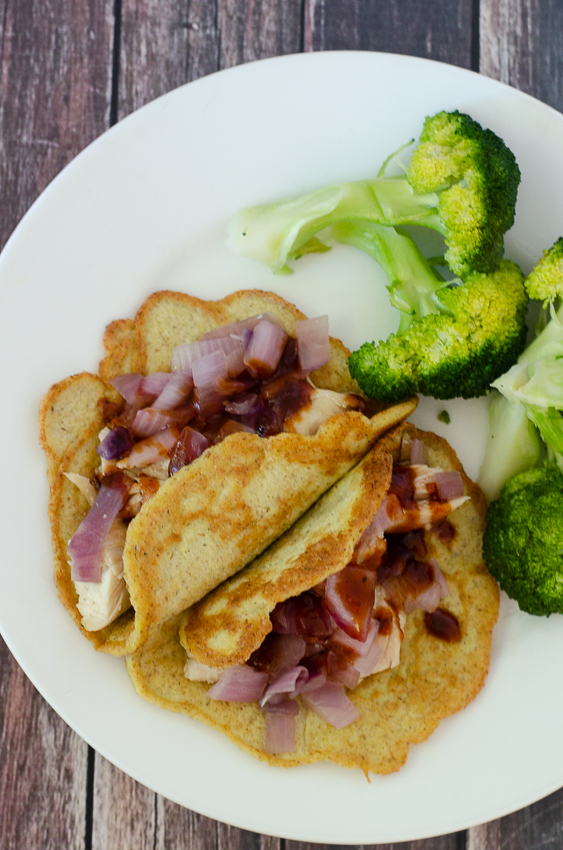 These keto BBQ chicken and sauteed onion wraps are a great way to jam more BBQ into your life this summer. Because you can never have enough, right? Made with my grain-free wraps, they are great for everyone, not just those who are low-carb, ketogenic, gluten-free and grain-free.