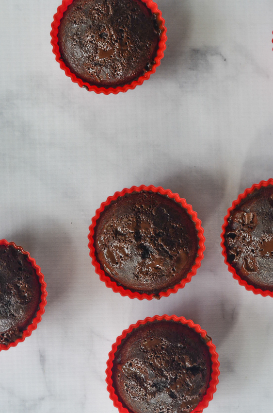 Incredibly chocolately, these triple chocolate muffins are a sweet and decadent breakfast, dessert or snack! Gluten-free, grain-free, ketogenic, low-carb, Paleo, dairy-free.