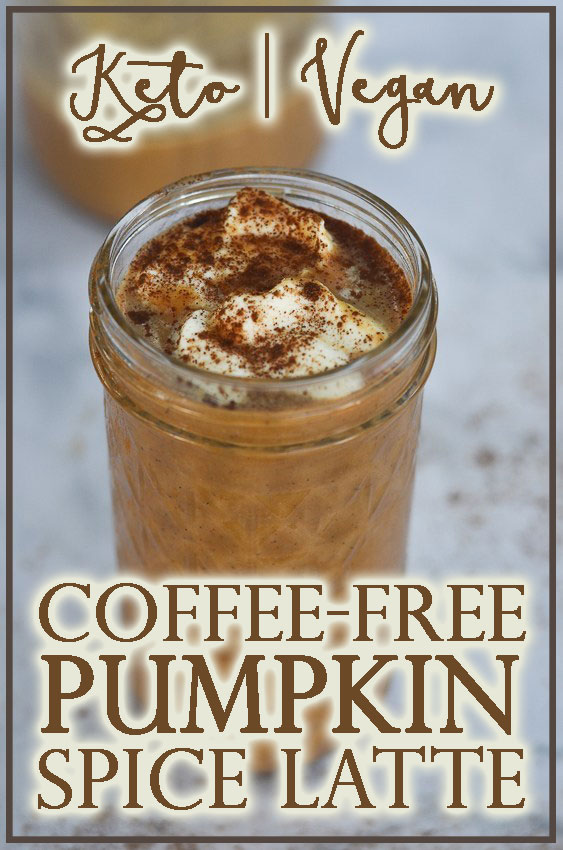 A spicy and flavorful hot beverage, this coffee-free cinnamon vanilla pumpkin latte is the perfect fall drink! Low-carb, sugar-free, Paleo, vegan and dairy-free.