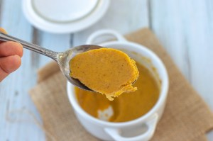 A delicious and smooth no-bake pumpkin pie filling for one. Can easily be modified to make a family-sized portion! Paleo, keto, gluten-free, grain-free, sugar-free, dairy-free, soy-free.