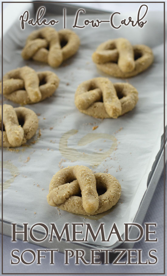 These homemade soft pretzels are INCREDIBLE! So delicious and flavorful, they're perfect for anyone folloing a paleo, low-carb, ketogenic, dairy-free, gluten-free or grain-free way of eating.