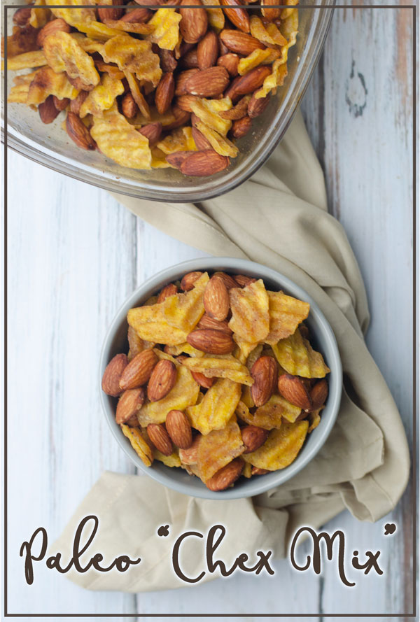 """An incredibly crunchy, salty snack, this paleo """"chex mix"""" has all of the flavor of traditional chex mix without any of the grains! Gluten-free, grain-free, dairy-free, vegan, paleo."""