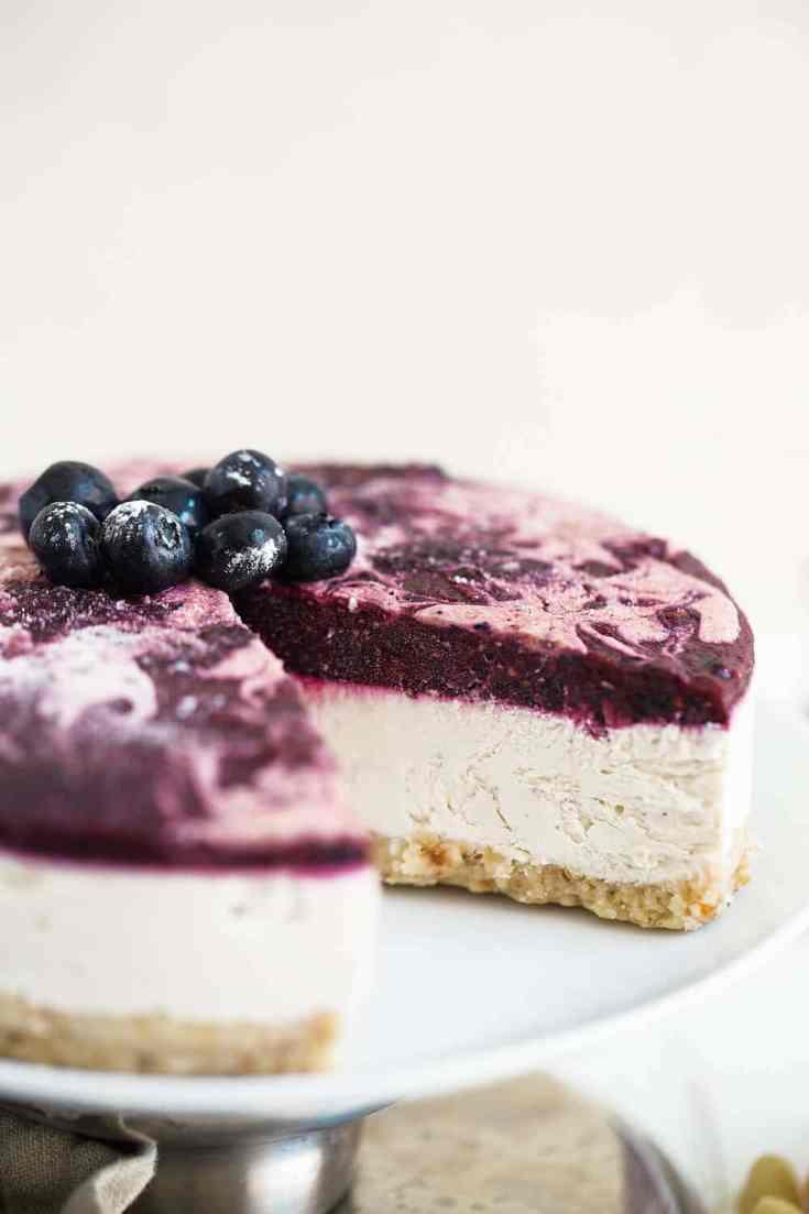 Raw Vegan Blueberry Cheesecake