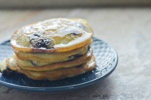 A delicious and simple recipe, these keto blueberry pancakes take just minutes to make! Low-carb, Paleo, gluten-free, grain-free, dairy-free, sugar-free.