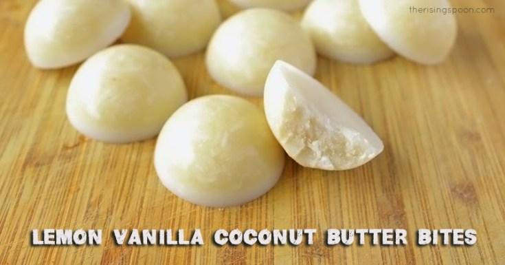 Lemon Vanilla Coconut Butter Bites