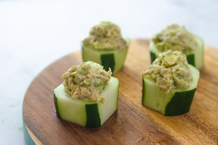 Avocado Salmon Cucumber Cups (Low-Carb, Whole30)