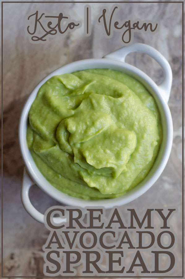 Looking for a deliciously creamy avocado spread? This one is great for sandwiches, and can also be made into a delicious salad dressing or sauce with a bit more liquid! Keto, Whole30, vegan.
