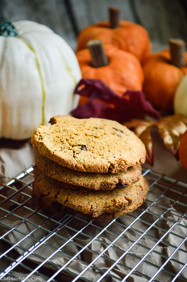 Vegan Keto Pumpkin Cookies