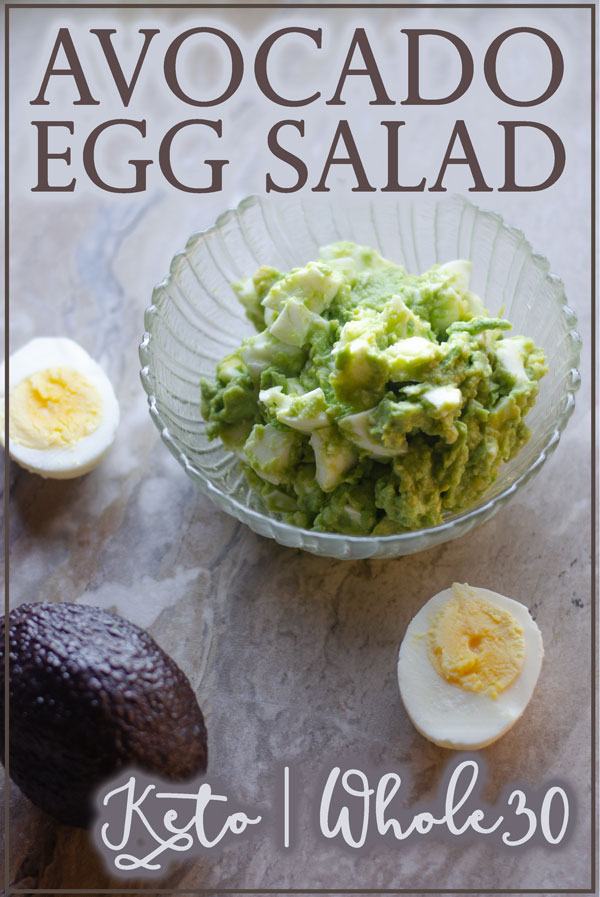 Looking for a super simple and healthy egg salad recipe? This one is great for any occasion! Keto, Whole30, Paleo, vegetarian, dairy-free.
