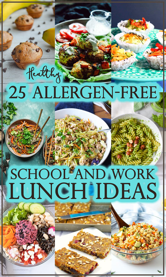 Are you in need of some lunch ideas that are allergen-free for school or work? You are in the right place! These lunches are a mix of gluten-free, grain-free, Paleo, low-carb and vegan.