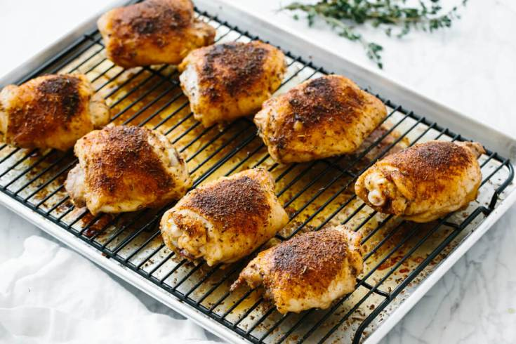 Baked Chicken Thighs (Crispy & Juicy!)