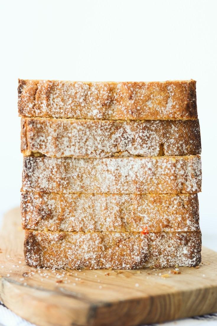 Creamy Keto Pumpkin Bread (Gluten Free, Low Carb)