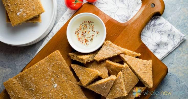 Focaccia Flax Bread--GF & vegan--simple and delicious!