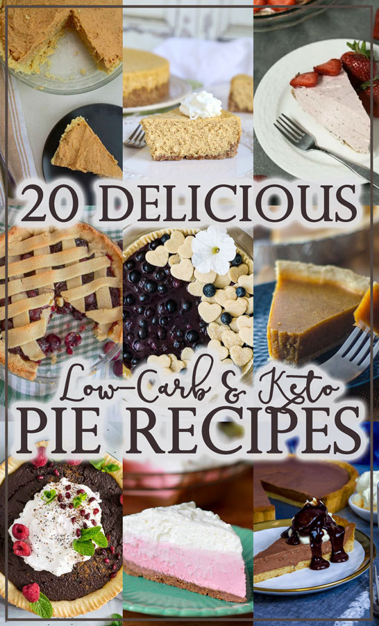 These 20 delicious low-carb and keto pies are great for any occasion or holiday get-together. Perfect for anyone who is gluten-free, grain-free or sugar-free!