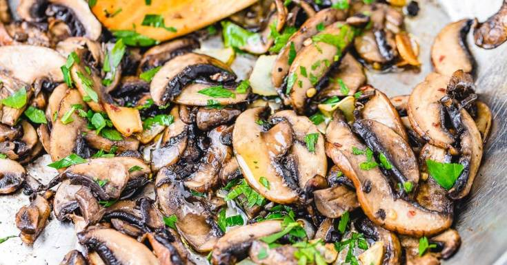 Easy Sauteed Mushrooms With Garlic And Parsley