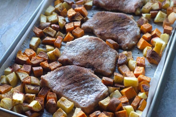 Sheet Pan Spiced Pork Chops and Veggies (Paleo, Whole30)
