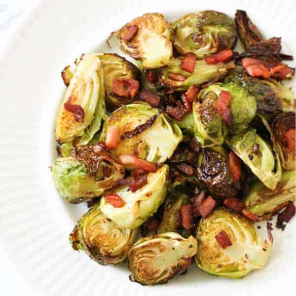 Crispy Brussels Sprouts with Bacon (Paleo & Whole30)