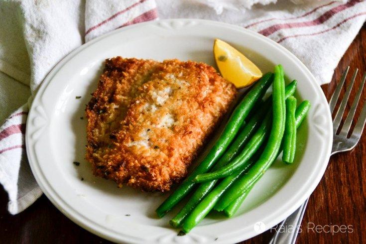 Crispy Coconut Pan-Fried Salmon