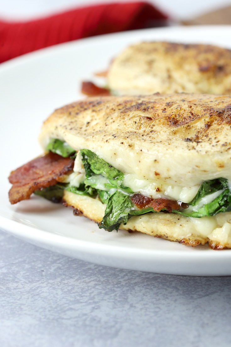 Bacon and Spinach Stuffed Chicken - The Toasty Kitchen