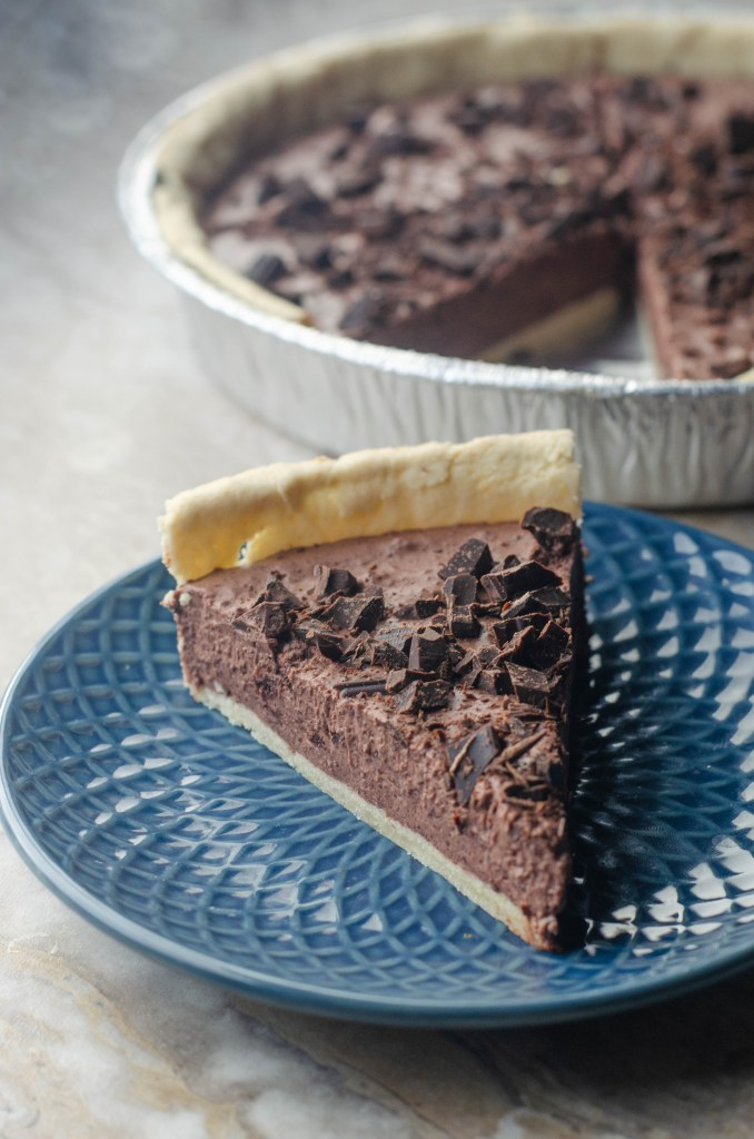 An incredibly rich and decadent dessert, this chocolate cream pie is the perfect special treat! Low-carb, paleo, gluten-free, grain-free, dairy-free.