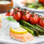 Baked Salmon with Dill Sauce (Keto, Low-Carb)