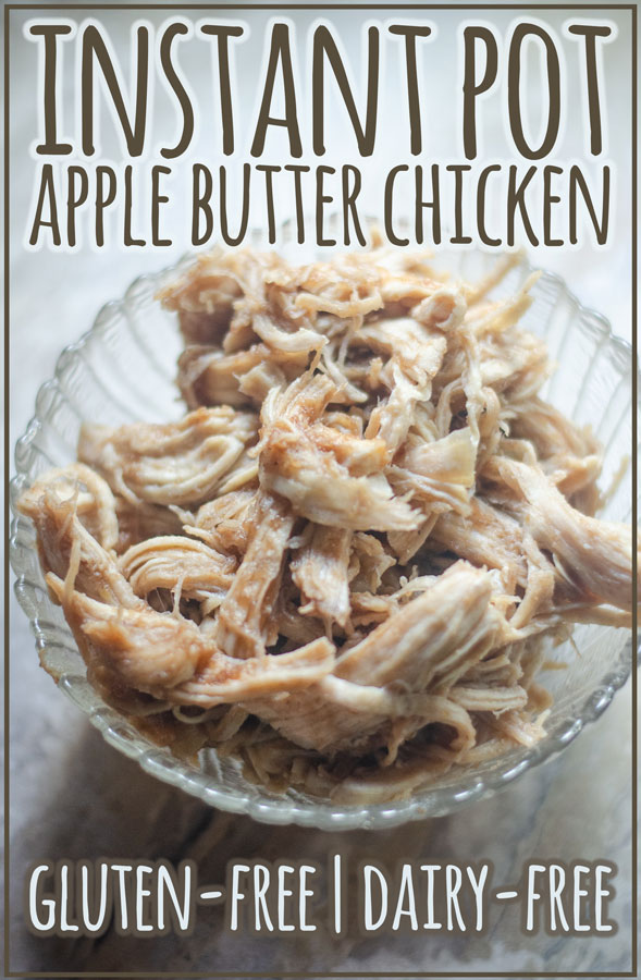 This instant pot apple butter chicken is a delicious dish that you can make in just 20 minutes from start to finish! Dairy-free, gluten-free.