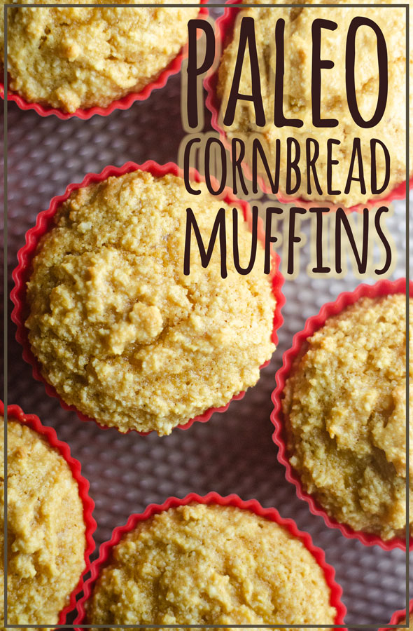 These cornbread muffins are actually corn-free because they are paleo, but they are flavorful and sweet, just like the real deal! Gluten-free, low-carb, dairy-free.