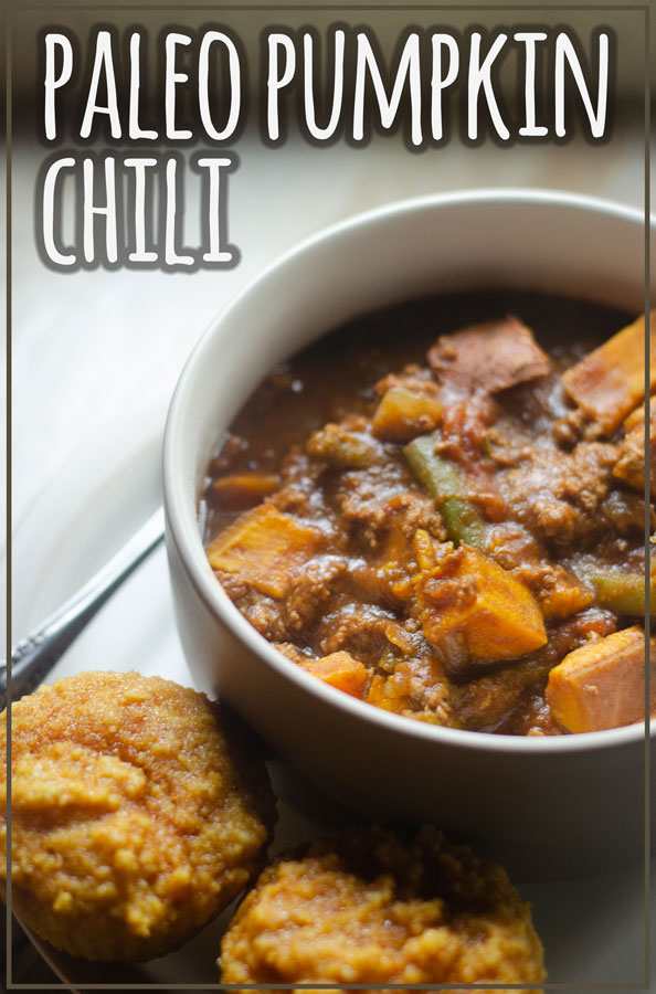 A delicious and cozy meal, this paleo pumpkin chili is quick and easy to make! Can be made in an instant pot or on the stove. Gluten-free, grain-free, dairy-free.