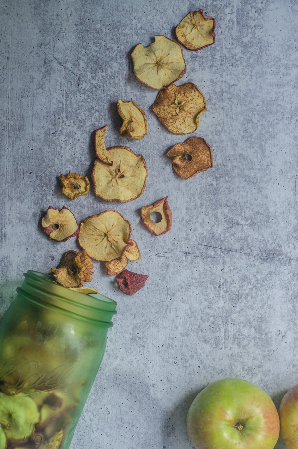 If you have an abundance of apples, these dried apple slices are a great way to preserve them! Paleo, Whole30, Vegan.