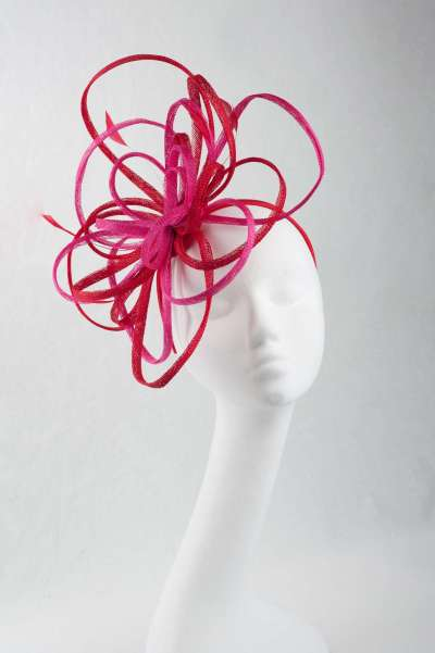 Two-tone pink and red hat - The Hat Box